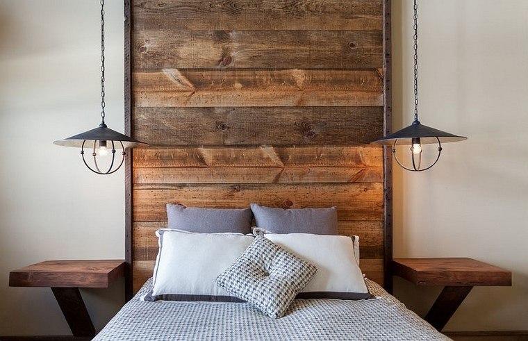 cabeceros de cama estilo rustico madera diseno ideas