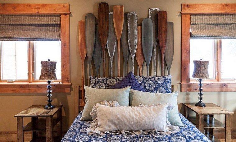 cabeceros de cama ideas originales interesantes dormitorio modernas