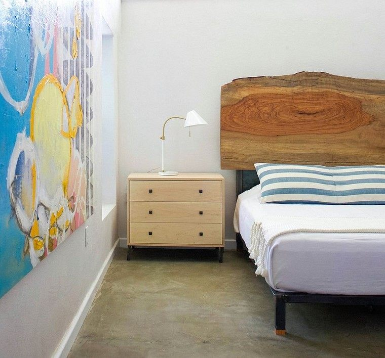cabeceros de cama madera natural estilo ideas contemporaneo