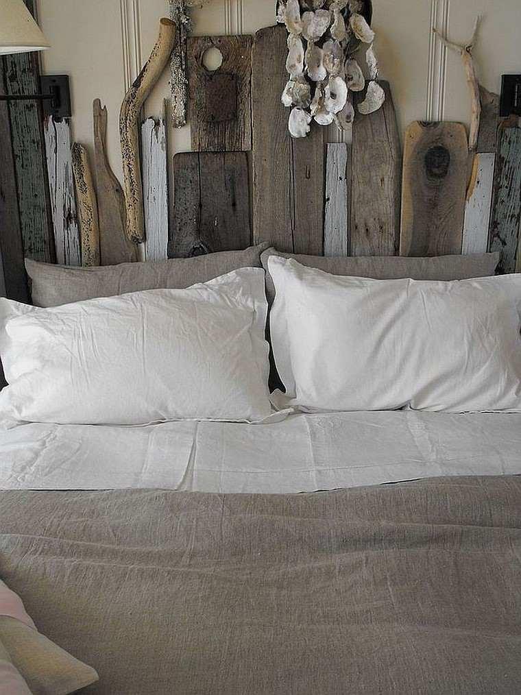 Cabeceros de cama ideas ingeniosas con madera - Cabeceros rusticos de madera ...