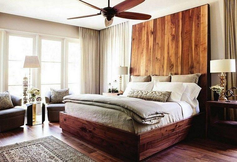 Cabeceros de cama ideas ingeniosas con madera - Cabezales de cama de madera ...