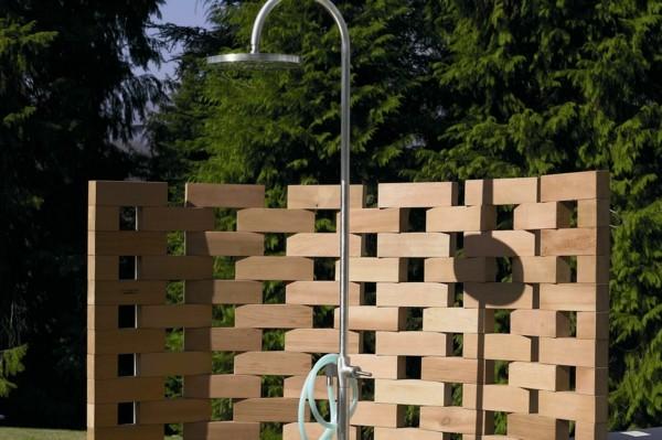 cabina ducha externa biombo madera