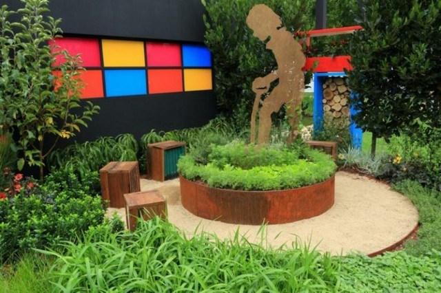 cajas jardin metal acero combinacion colores