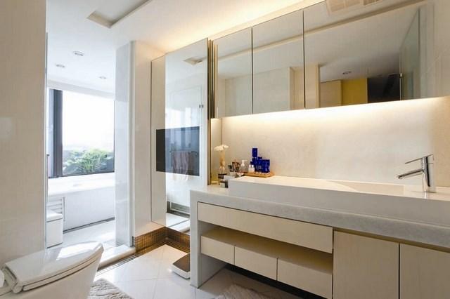 calido colores mural lavabo ventana bañera