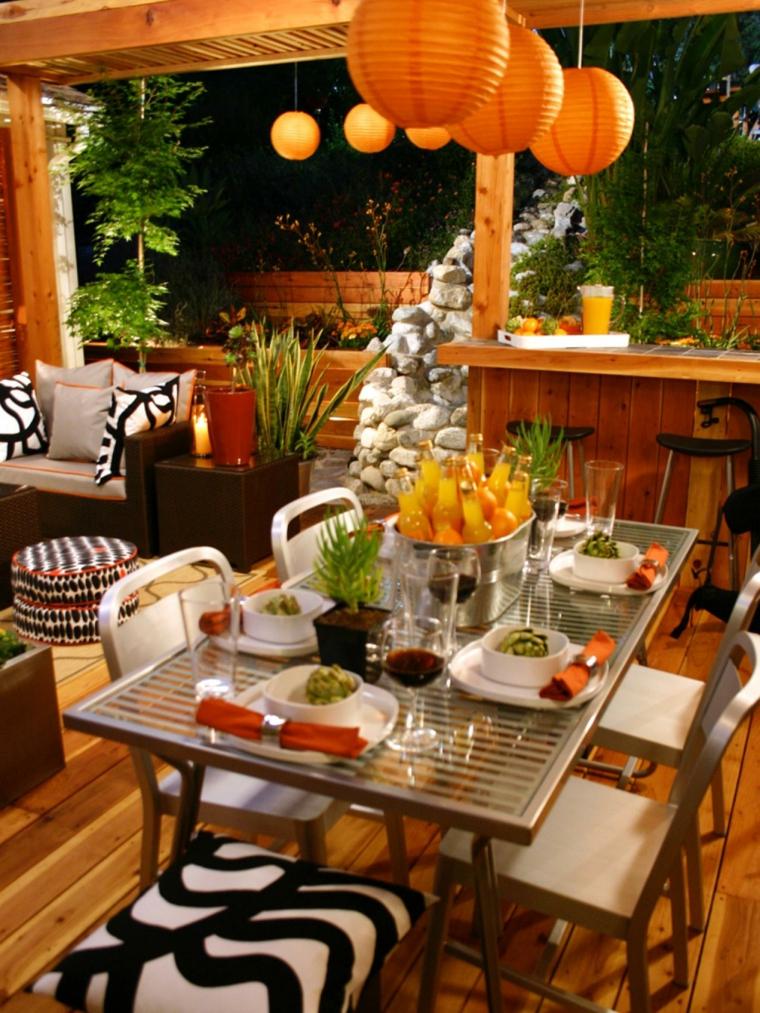 calido lamparas mesa moderno naranja