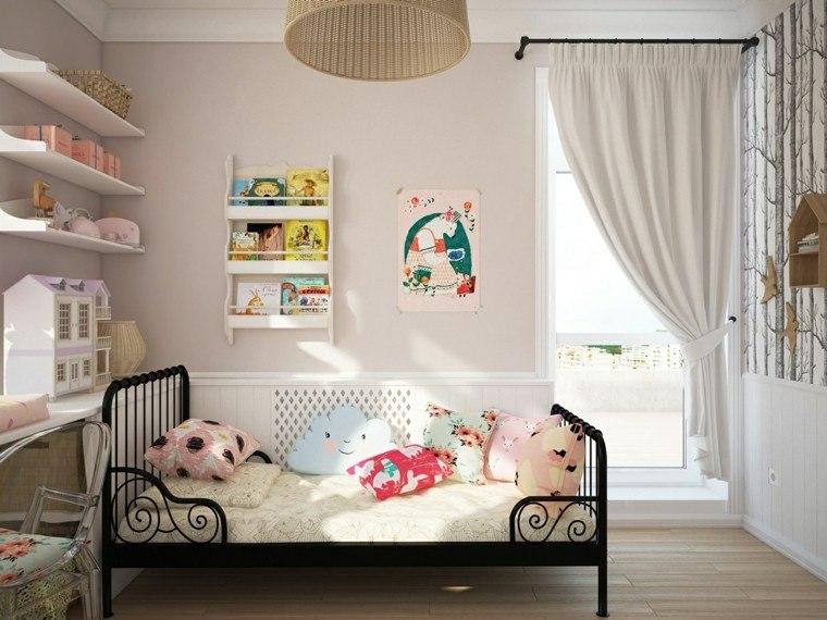 cama cortinas muñecas silla cortinas