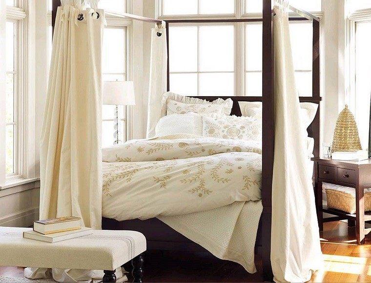 cama dosel cortina ideas comoda moderna bonita