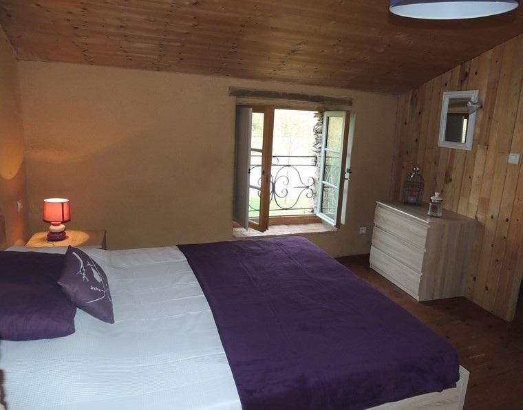 cama grande moderno habitacion estilo rustico