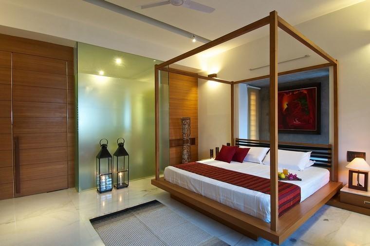 cama moderna interior ideas lamparas led