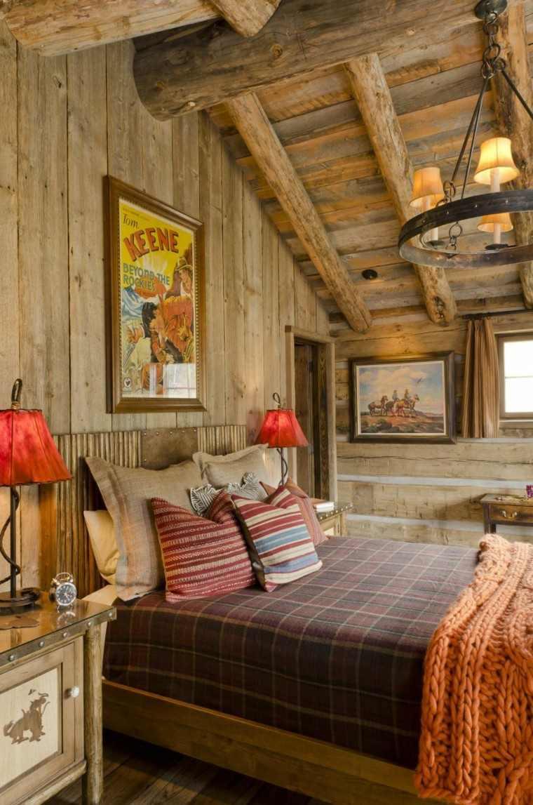 Decoracion r stica para los dormitorios juveniles con encanto - Habitacion de madera ...
