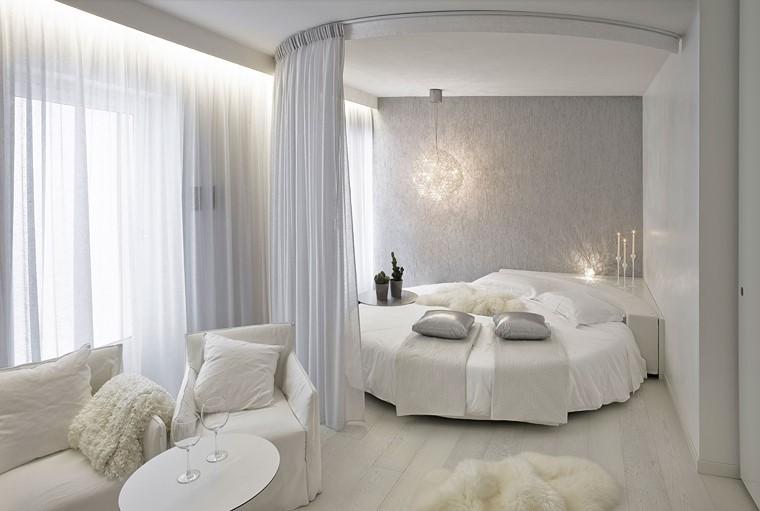 cama redonda comoda ideas modernas cortinas