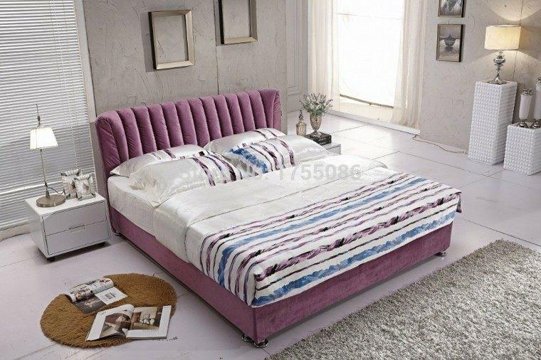 cama rosa terciopelo soltera alfombra
