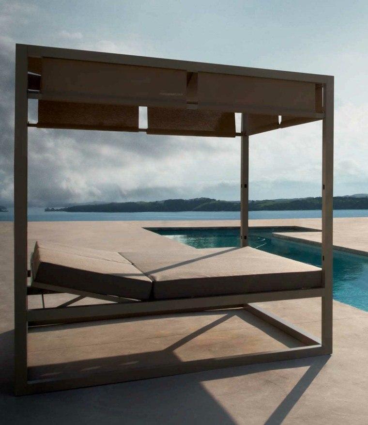 camas de jardín estilo minimalista