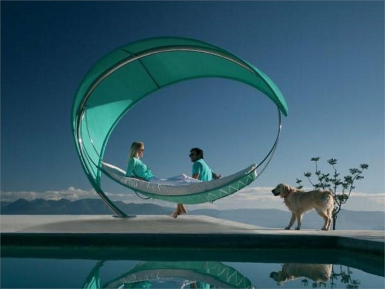 camas de jardin moderna celeste