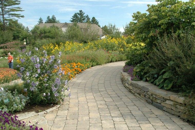 camino muro lajas jardineria rocas adoquines