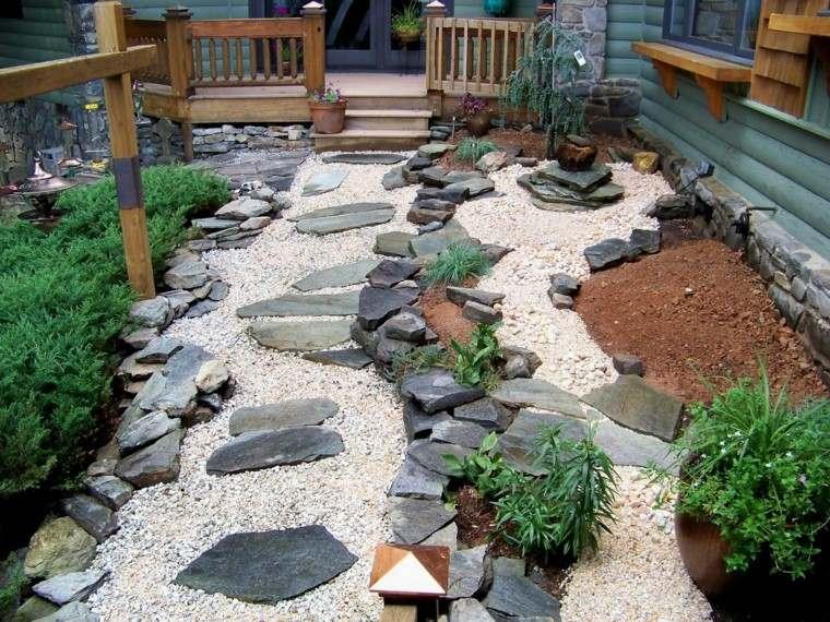 diseo jardin japones con elementos naturales
