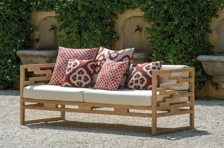 canape madera teca diseño moderno