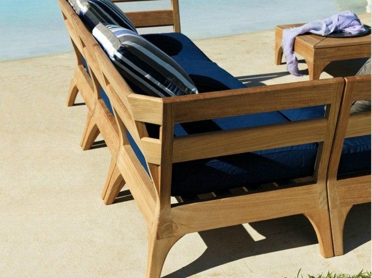 canapes diseño moderno madera teca