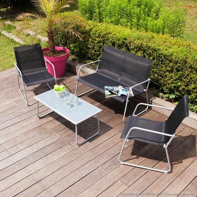 canapes sillas modernas negras jardin