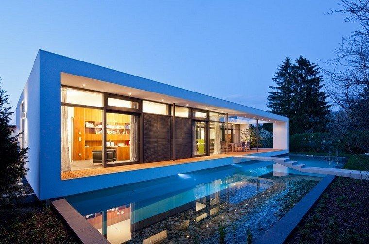 casa moderna estanque diseño lujo decoracion