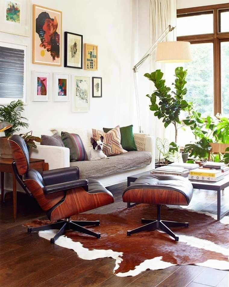 casa sofa diseño verde madera pieles