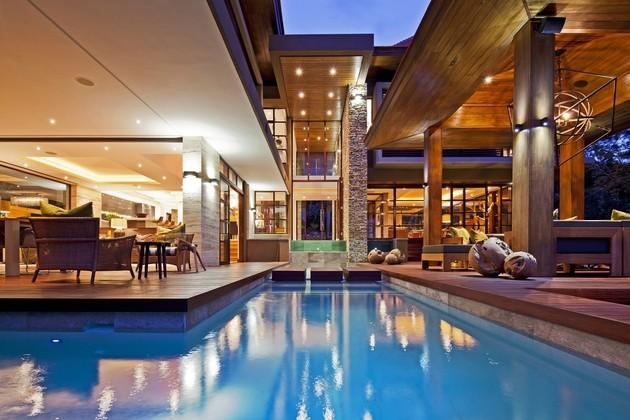 casas de diseño piscina zen
