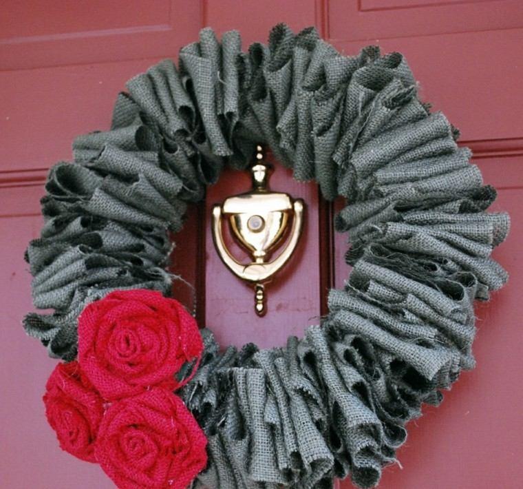 casas decoradas guirnaldas ideas tejidos rosas