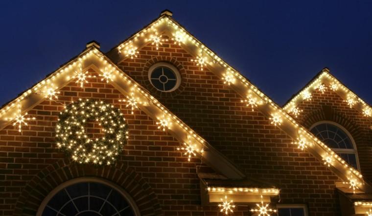 casas decoradas navidad estrellas guirnaldas