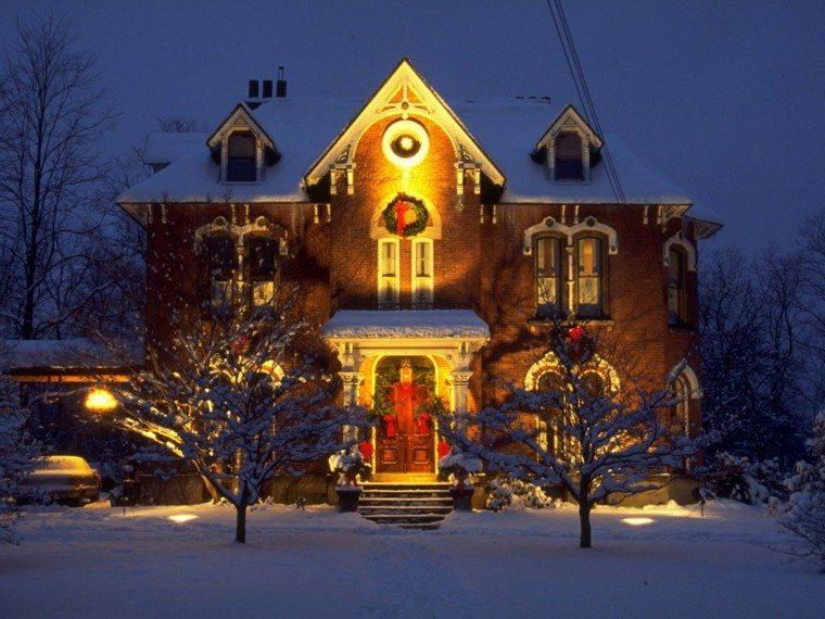 casas decoradas navidad guirnaldas ideas luces