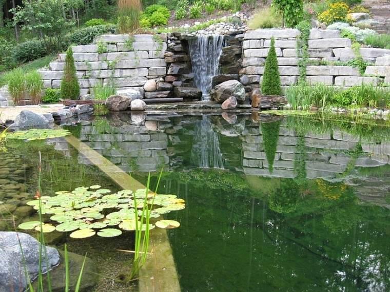catarata piscinas naturales jardin plantas