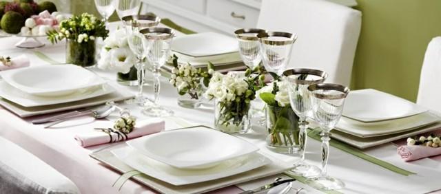 cenas exquisitas platos blanco siempre modernos porcelana