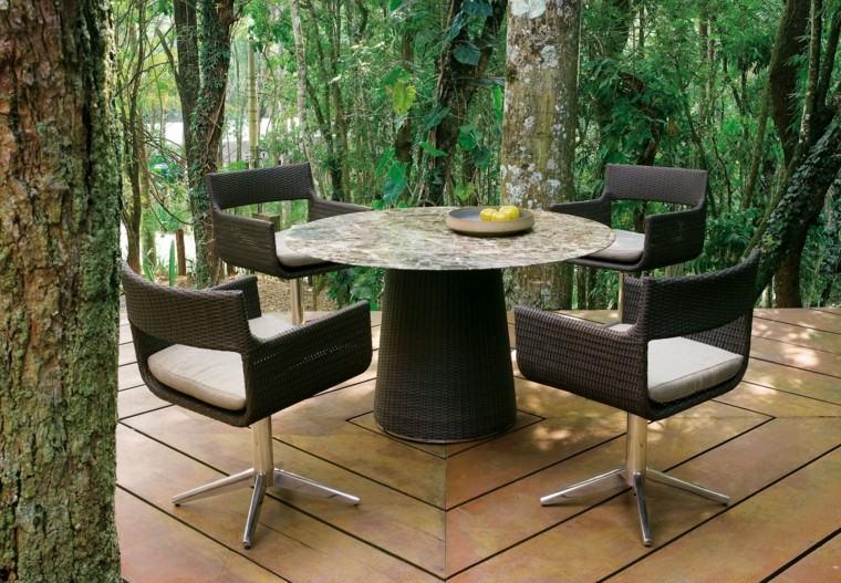 cenas inolvidables patio mesa encimera marmol moderna