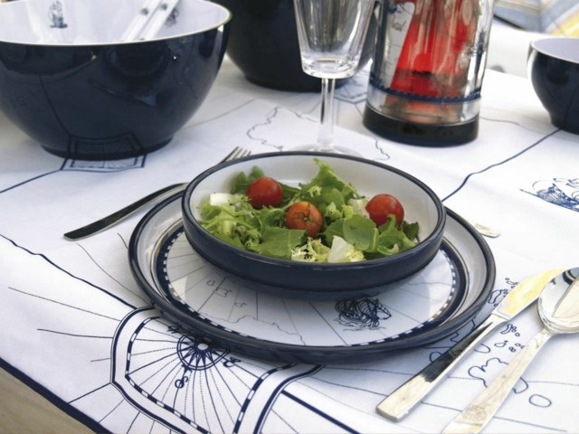 cenas preciosas azul oscuro blanco tema moderna marino