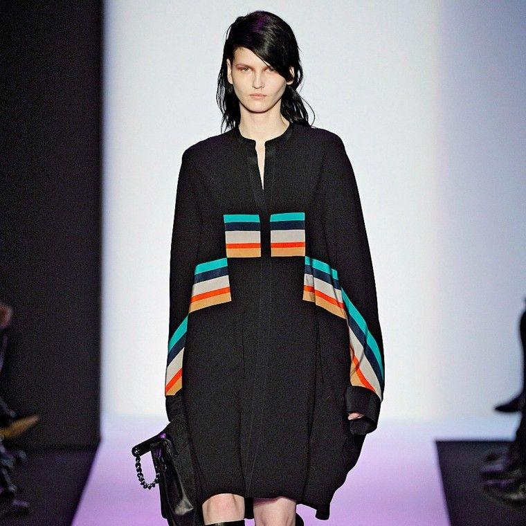 chandal túnica negra ancha rayas