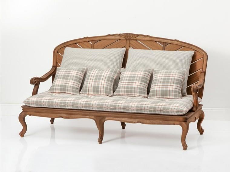 chelini modelo sofa clasico madera