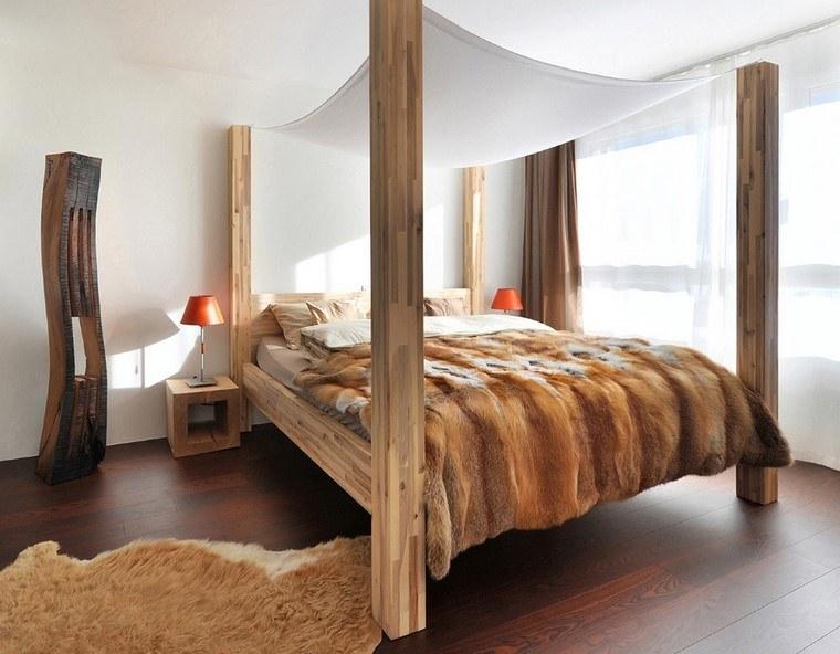 madera cama moderna estilo muebles