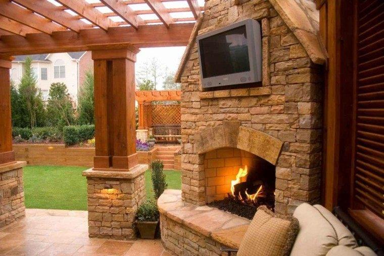 Pergolas jardin de madera una zona de recreo ideal for Cocina exterior jardin
