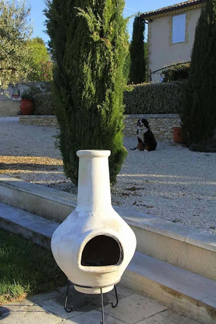 chimenea interesante ideas blanca zen jardin