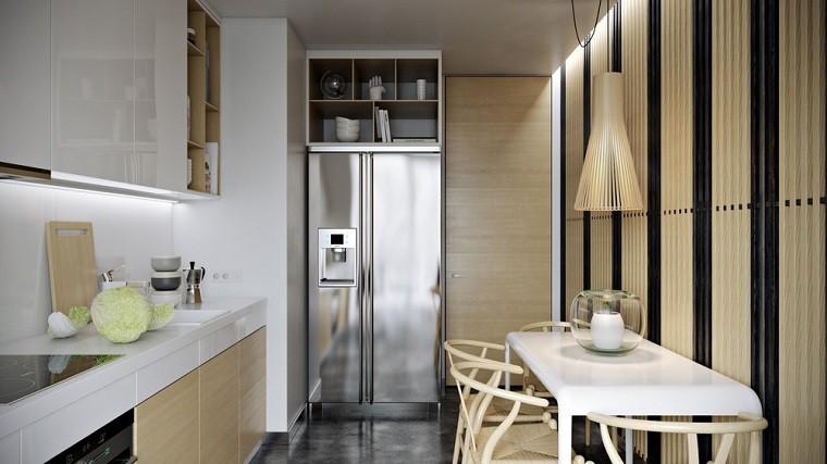 claro cocina mueble lamparas diseño