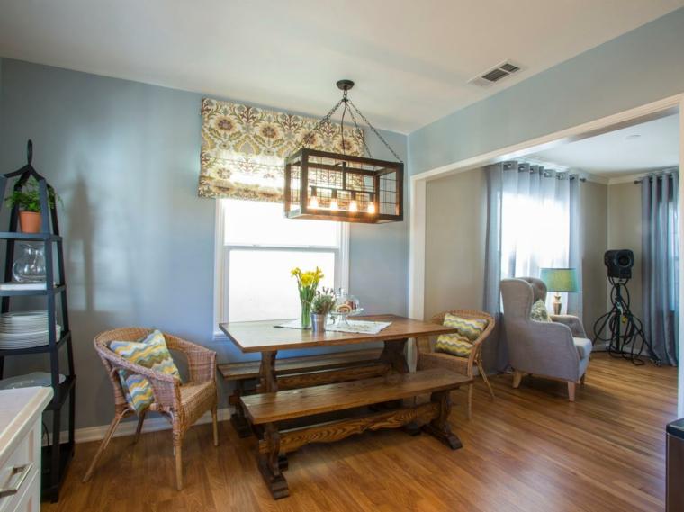 claro tono lampara diy madera cortinas