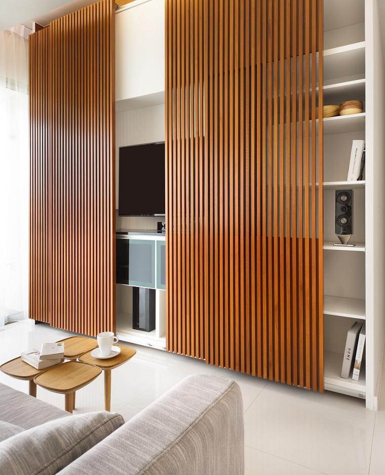 coberetura panel pared madera mesa