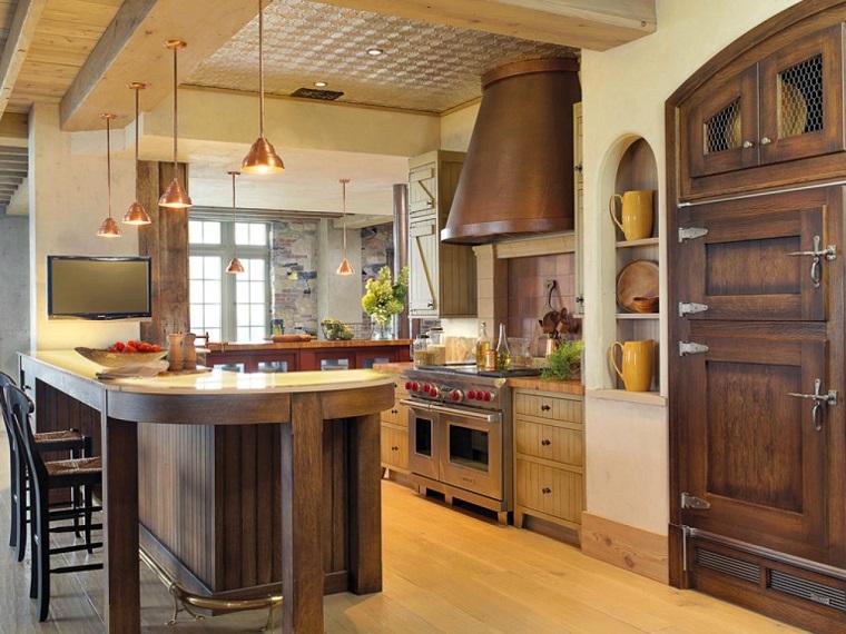 como disear una cocina barra ideas interesantes casa moderna madera