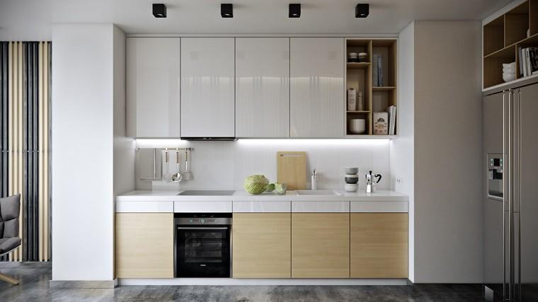 cocina decoracion cabinetes blanco listones