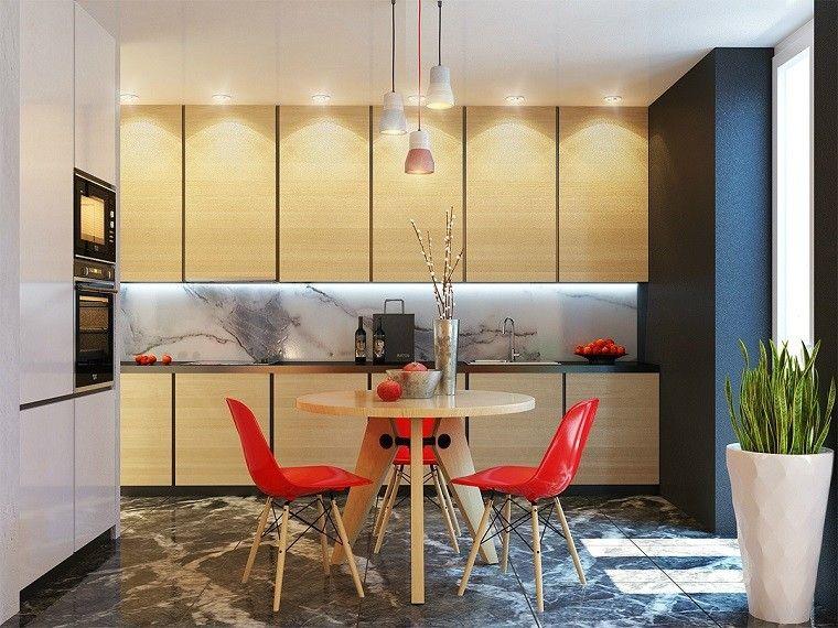 cocina decoracion lamparas frutas muebles