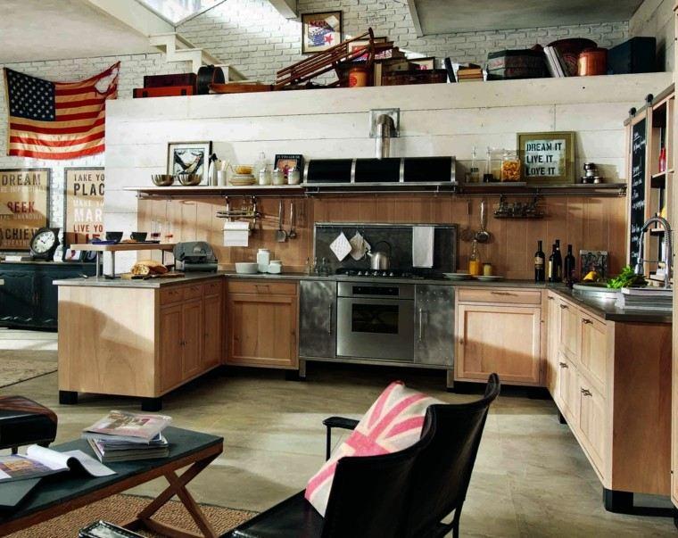 cocina diseño ideas vintage madera moderna