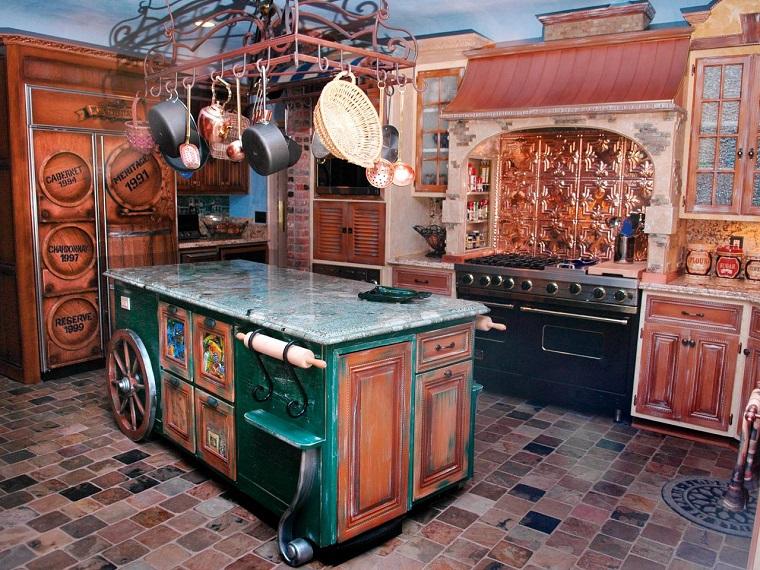 cocina estilo rustico diseno original interesante ideas