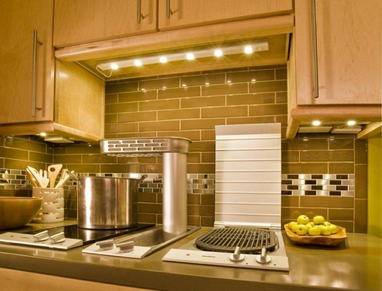 Iluminaci n led 75 ideas incre bles para el hogar - Iluminacion muebles cocina ...