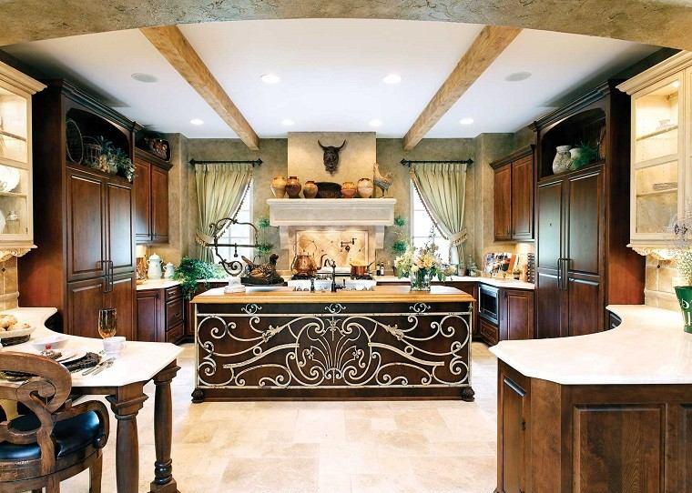 cocina estupenda isla arte dibujo