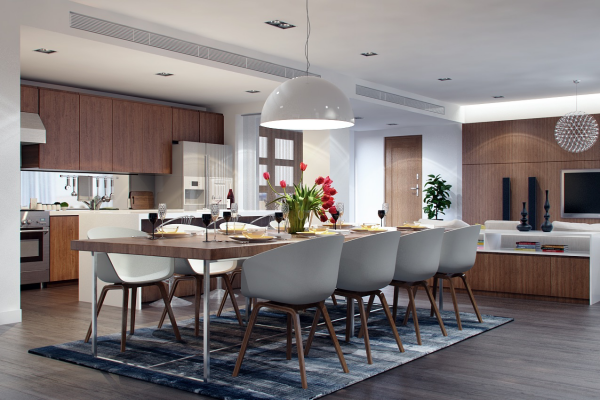 Mesas de cocina o comedor de dise o moderno tendencias for Comedor y cocina modernos