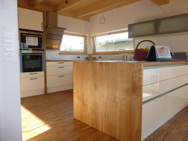 cocina laminado parquet madera blanco